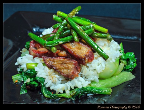 We love the bright color of the vegetables of Char Siu Stir Fry!