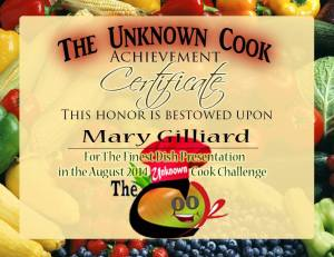 Mary's Achievement Certificate!