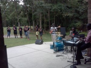 New Life Praise Team and Band geared up  to rock out God Style!