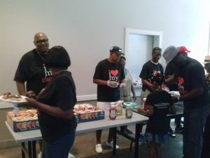 This awesome crew serving delicious food at The Family Affair. Photo courtesy of Pastor James Gourdine.