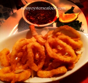 Golden Fried Calamari at The Noisy Oyster. Taken with my S2 and edited in Picasa. You must try this dish!