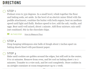 If you want your cookies to turn out good, follow these directions word for word!