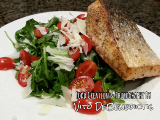 Vito DeBenedictis' Fresh Herb Pan Seared Salad from Food Photography. Healthy and good!