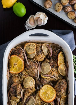 Christine Arel's Citrus Herbed Baked Chicken from the Cooking Community. So delicious!