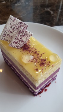Sam Mathinda's Sweet Violet Cheese Cake on Food Photography. This dessert is just Heavenly!